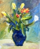 Bouquet with red tulips 2005