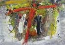 Red Christ, cross - Der rote Christus