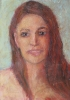 Portrait, woman with red hair