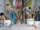 Brushes in my studio